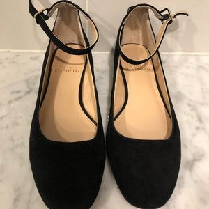 Vince Camuto Black / Gold Ballet Flat Shoes